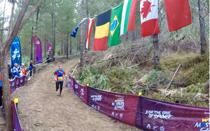 woodhill Forest running into the finish.