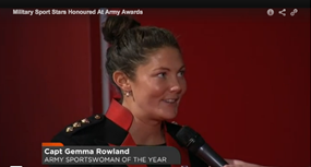 Army Sports Woman of the Year Gemma roland Womens Rugby